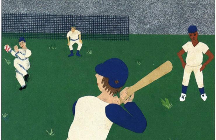 The Montana Summer playing baseball