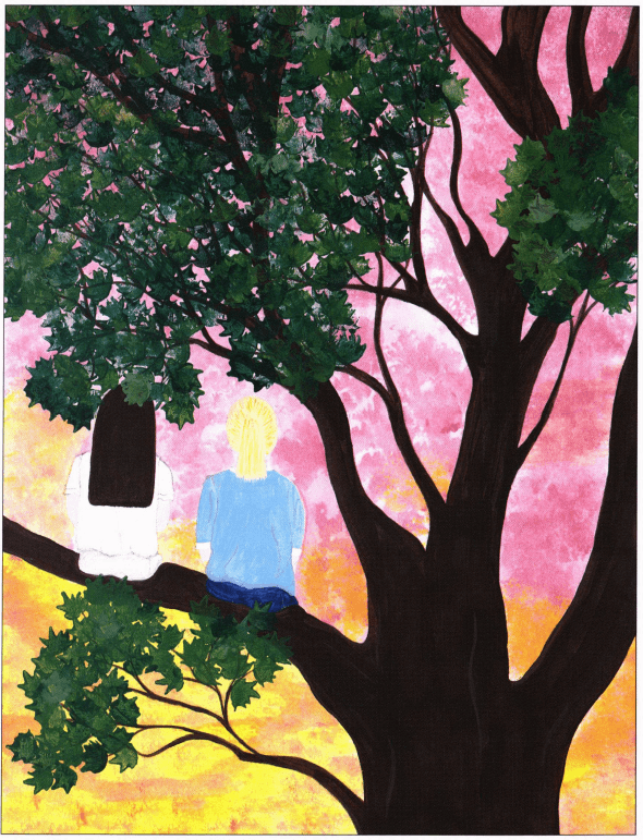 Allison climbing a tree