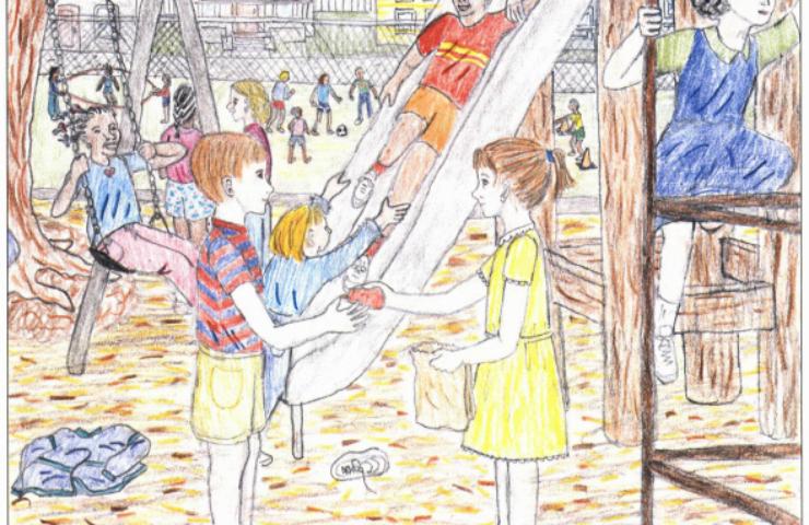 Jenny children in the playground