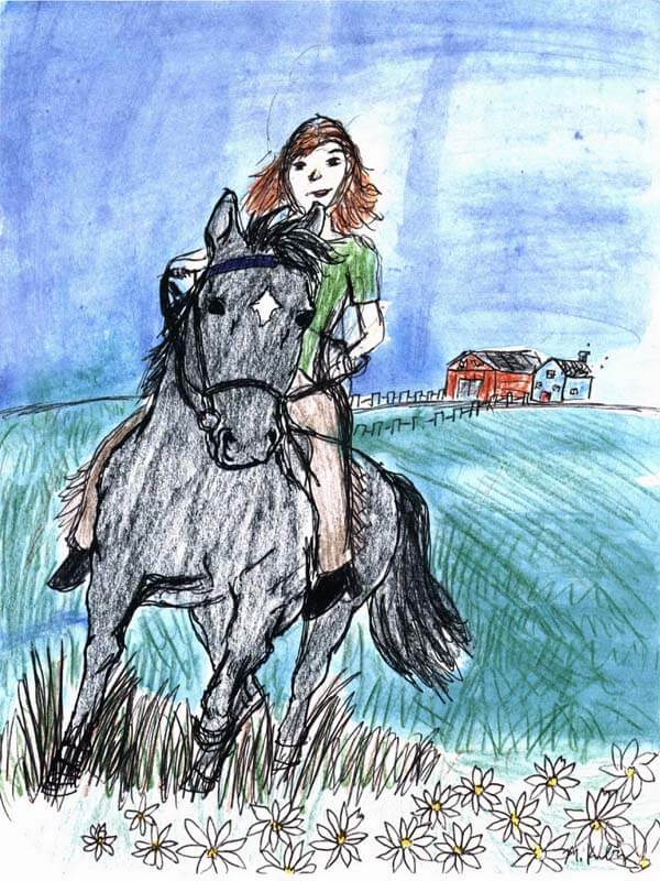 through dracos eyes girl riding a black horse