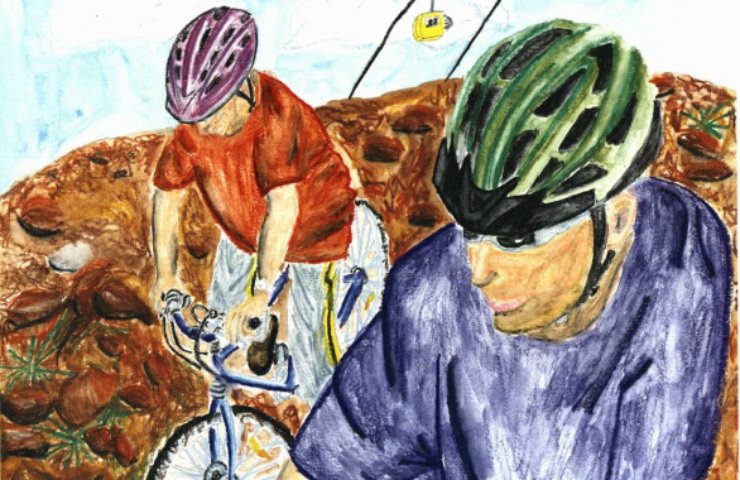 Thirteen and Still Feeling Lucky brothers biking