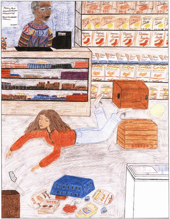 A Treasure girl on the floor