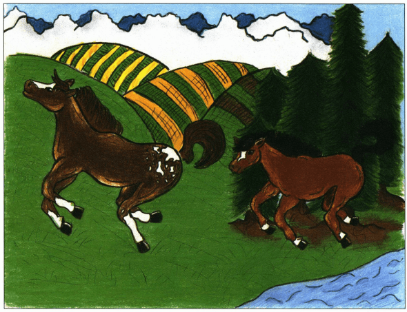 Colors of a Champion horses running