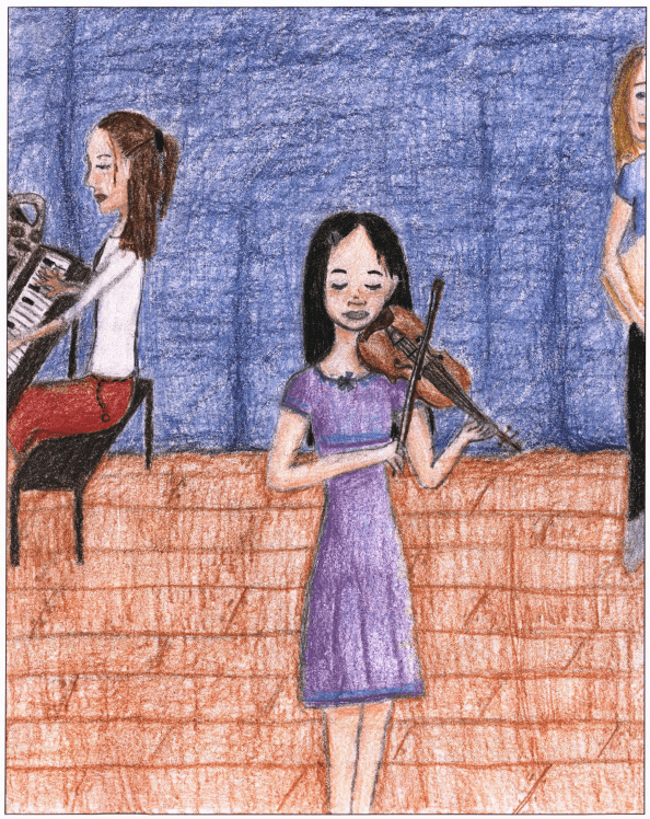 Year of Pain and Year of Glory playing violin
