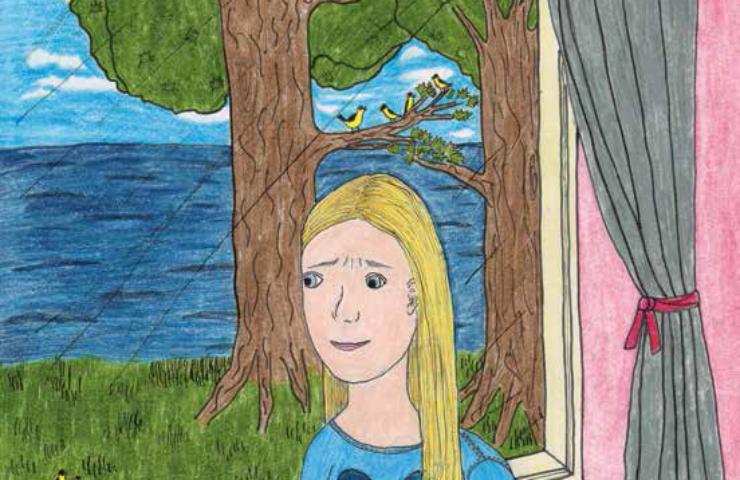 Speak girl by the window