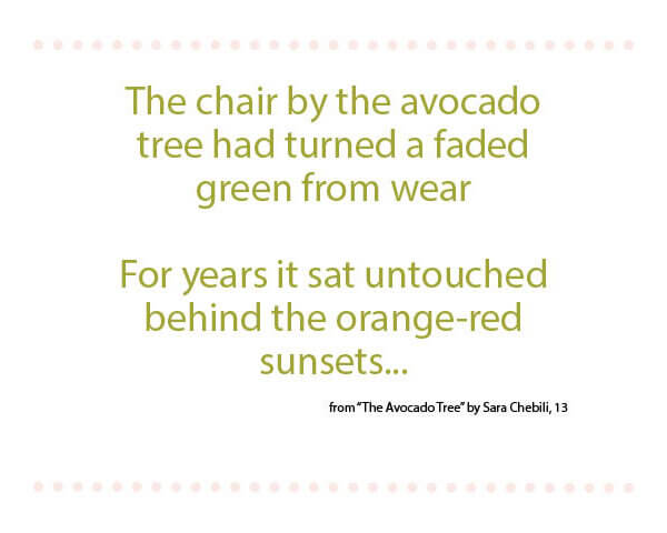The Avocado Tree   By Sara Chebili