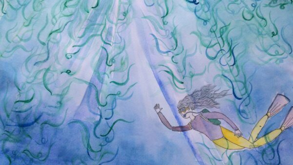 The Mystical Creatures of Blue Spout Bay Viola discovers a mysterious golden seaweed that has the potential to change the world3rd Place in the 2018 Science Fiction Contest By Marlena Rohde, Illustrated by Nicole Qian