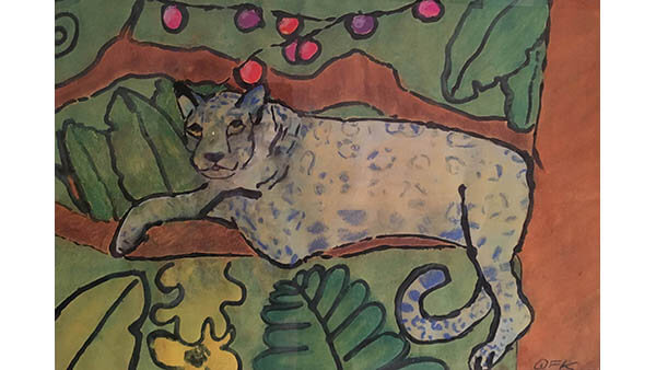 Blue Leopard  By Quinn Kammer