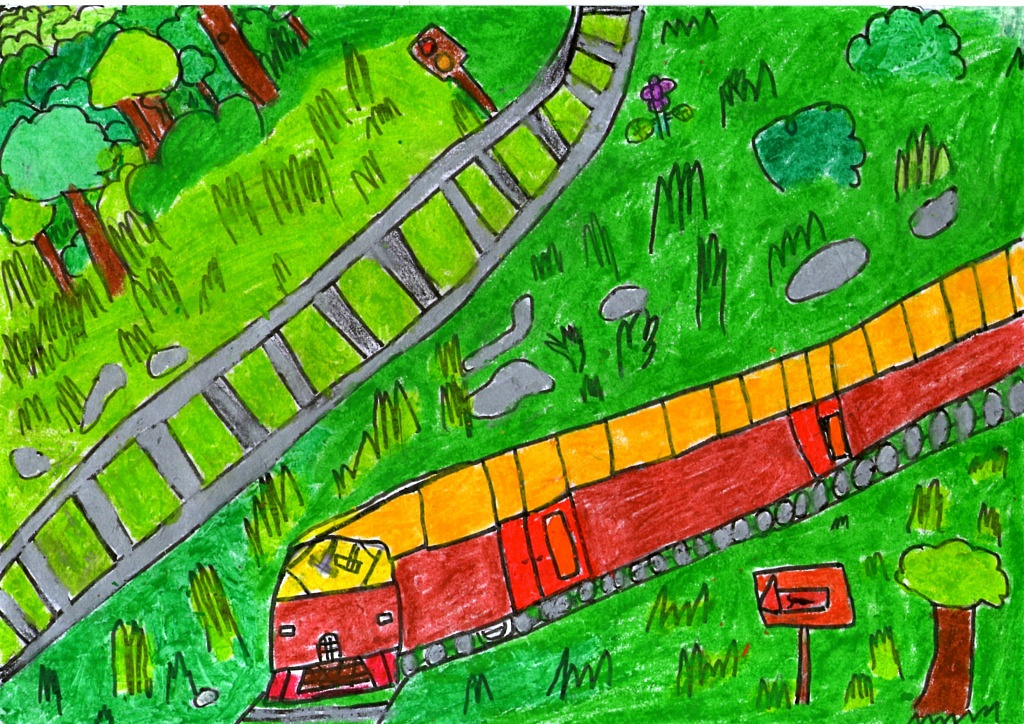 Train that Going Through a Forest