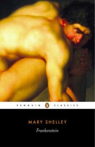 Book cover for Frankenstein by Mary Shelley